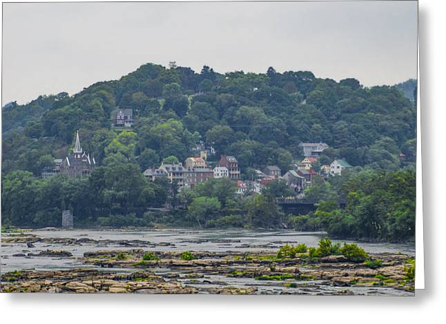 Harpers Ferry From The Potomac River Greeting Card