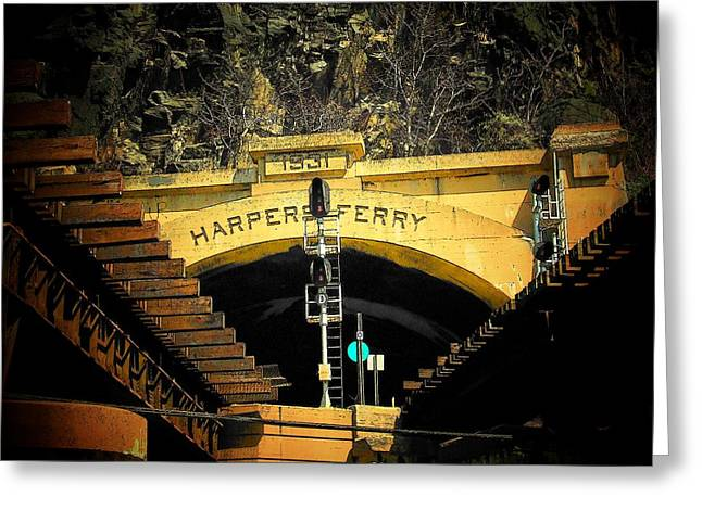 Harper's Ferry Greeting Card by Michael L Kimble