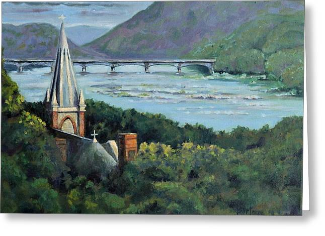 Harpers Ferry, Ray Of Light Greeting Card