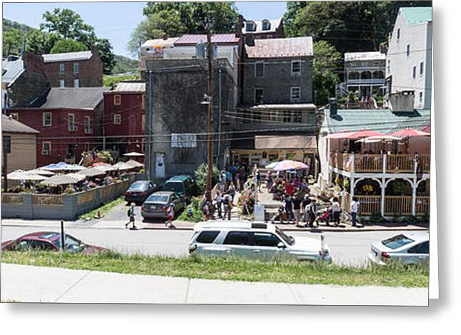 Harpers Ferry Shops Greeting Card by Thomas Marchessault