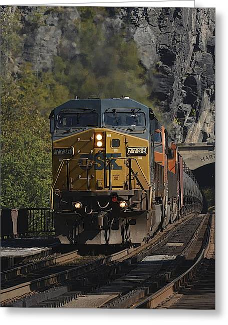 Harpers Ferry Train Greeting Card