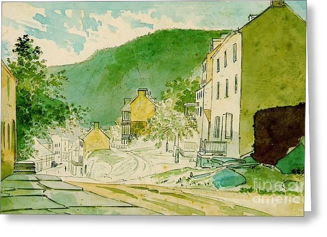 Harpers Ferry West Virginia 1873 Greeting Card