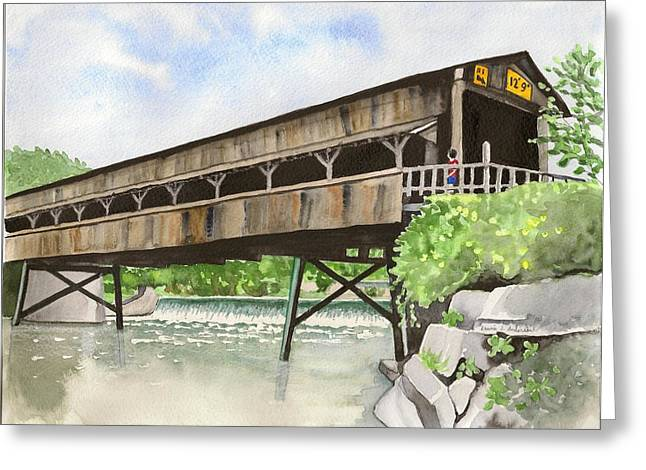 Harpersfield Bridge Greeting Card