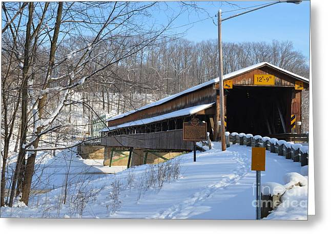 Harpersfield Covered  Bridge Ohio Greeting Card