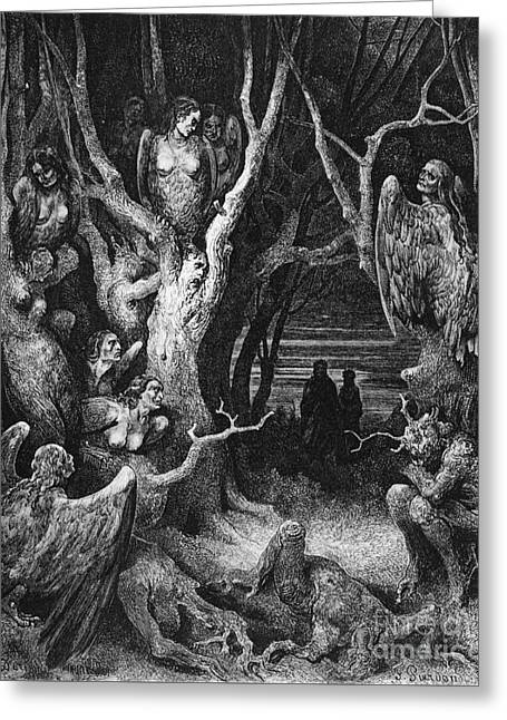 Harpies Greeting Card by Gustave Dore