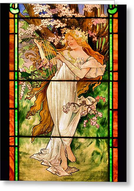 Harpist Greeting Card by Kristin Elmquist
