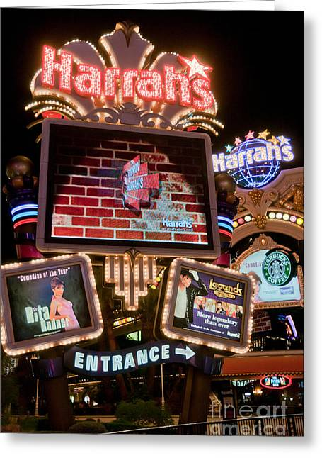 Harrahs Greeting Card by Andy Smy