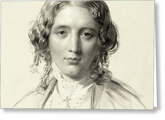 Harriet Beecher Stowe Greeting Card by Francis Holl