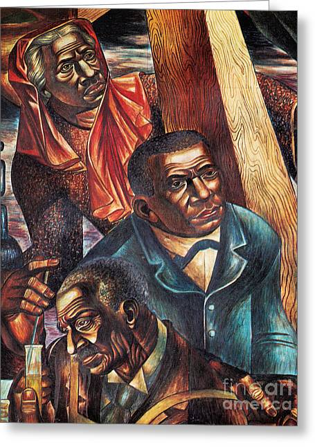 Harriet Tubman, Booker Washington Greeting Card