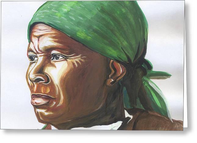 Harriet Tubman Greeting Card by Emmanuel Baliyanga