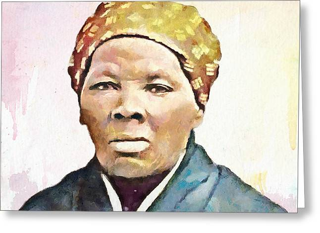 Harriet Tubman Greeting Card by Wayne Pascall