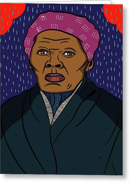 Harriett Tubman Greeting Card by Nicole Wilson