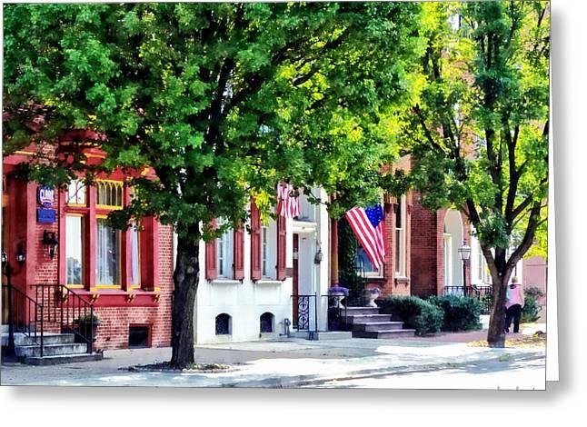 Harrisburg Pa - Quiet Harrisburg Street Greeting Card