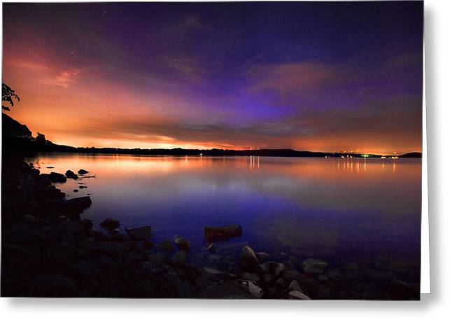 Harrison Bay At Night Greeting Card by Steven Llorca