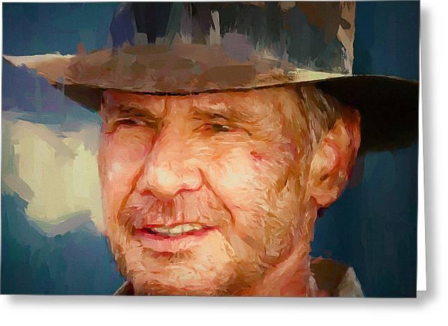 Harrison Ford Indiana Jones Portrait 1 Greeting Card