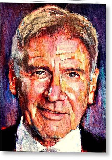 Harrison Ford Indiana Jones Portrait 2 Greeting Card