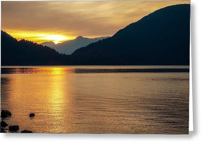 Harrison Lake, British Columbia Greeting Card