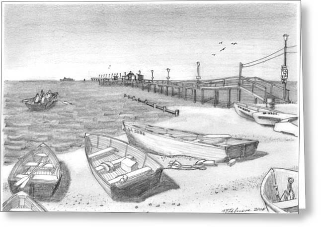 Harrisons Pier Ocean View Greeting Card