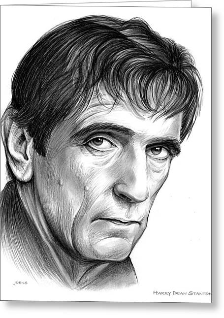 Harry Dean Stanton Greeting Card by Greg Joens