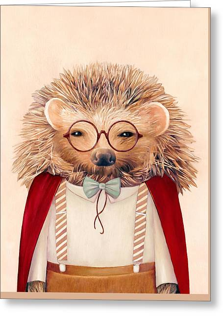 Harry Hedgehog Greeting Card by Animal Crew