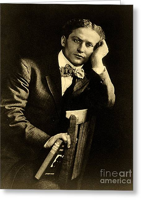 Harry Houdini Greeting Card