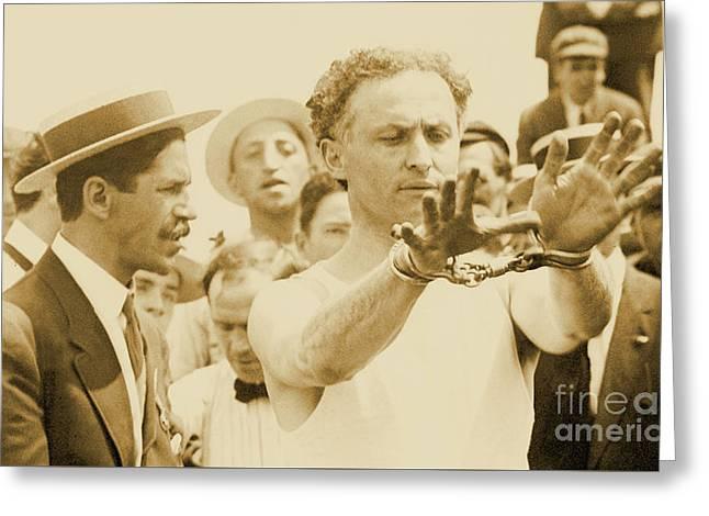 Harry Houdini Circa 1910 Greeting Card