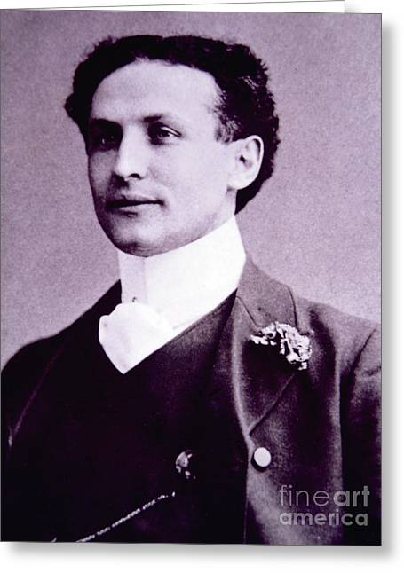 Harry Houdini  Hungarian American Magician, Escapologist And Stunt Performer Greeting Card