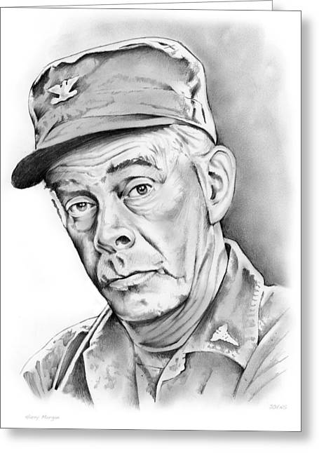 Harry Morgan Greeting Card by Greg Joens