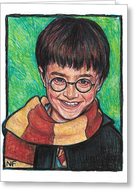 Harry Potter As Portrayed By Actor, Daniel Radcliffe Greeting Card by Neil Feigeles