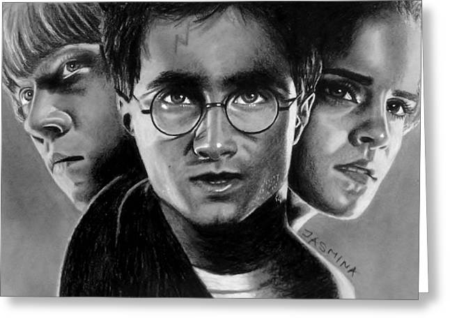 Harry Potter Fanart Greeting Card by Jasmina Susak