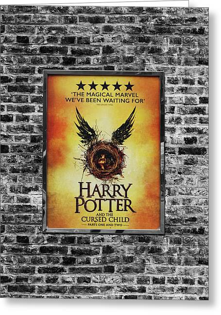 Harry Potter London Theatre Poster Greeting Card by Mark Rogan