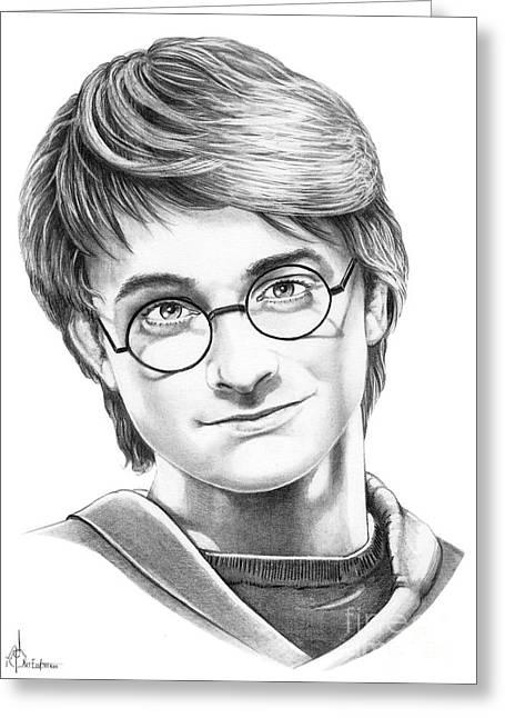 Harry Potter Greeting Card by Murphy Elliott
