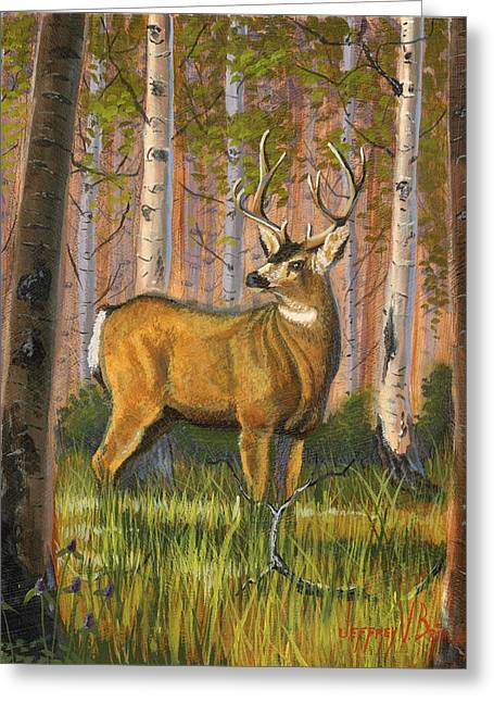 Summer Landscape Greeting Cards - Hart of the Forest Greeting Card by Jeff Brimley
