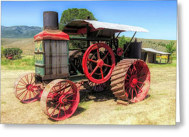 Hart Parr 1911 30 60 Tractor Greeting Card