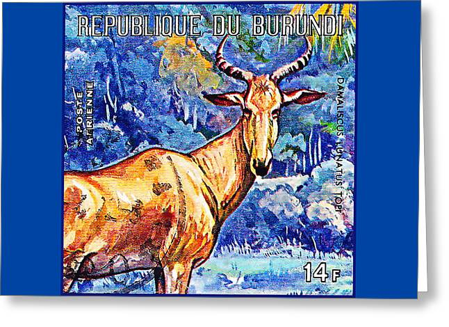 Hartebeest Greeting Card by Lanjee Chee