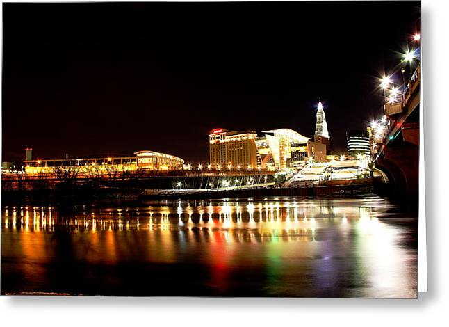 Hartford At Night Greeting Card