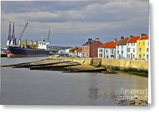 Hartlepool Harbour Evening Greeting Card