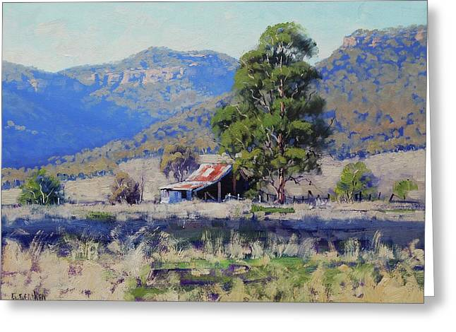 Hartley Farm Shed Greeting Card by Graham Gercken