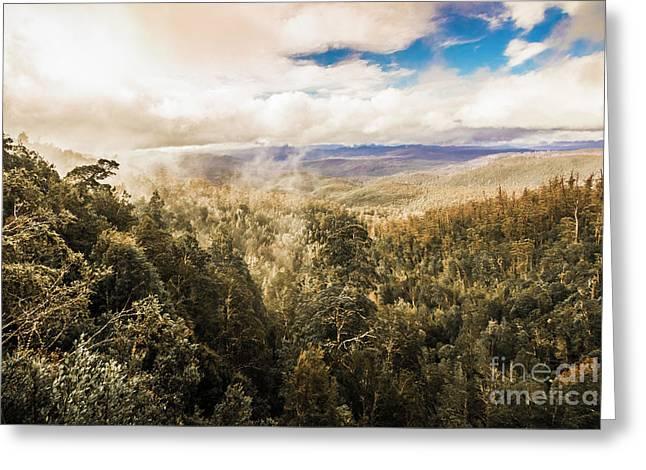 Hartz Mountains To Wellington Range Greeting Card
