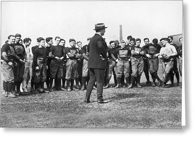 Harvard Football Practice Greeting Card