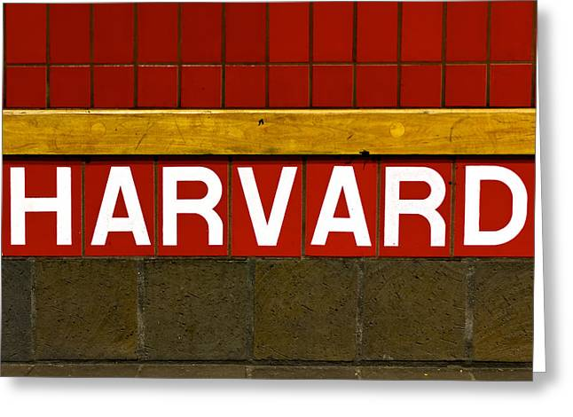 Harvard Square Station Greeting Card by Jannis Werner