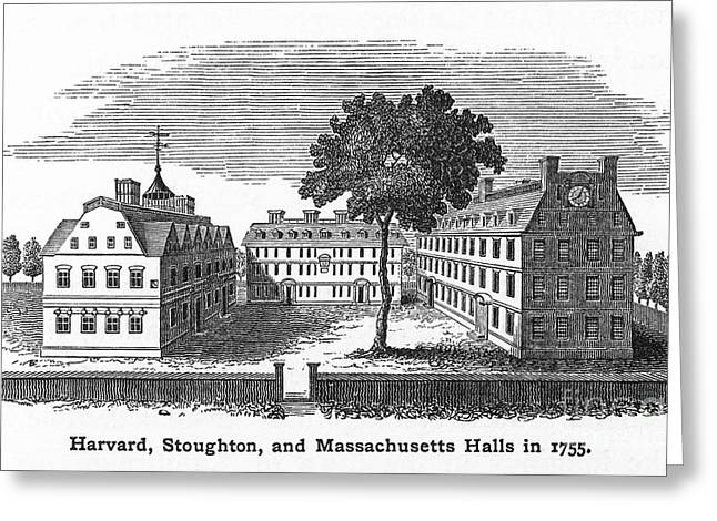Harvard University, 1755 Greeting Card by Granger
