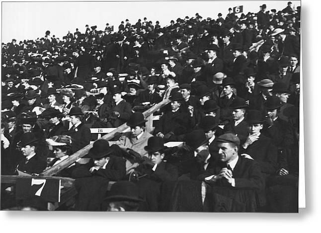Harvard-yale Football Fans Greeting Card