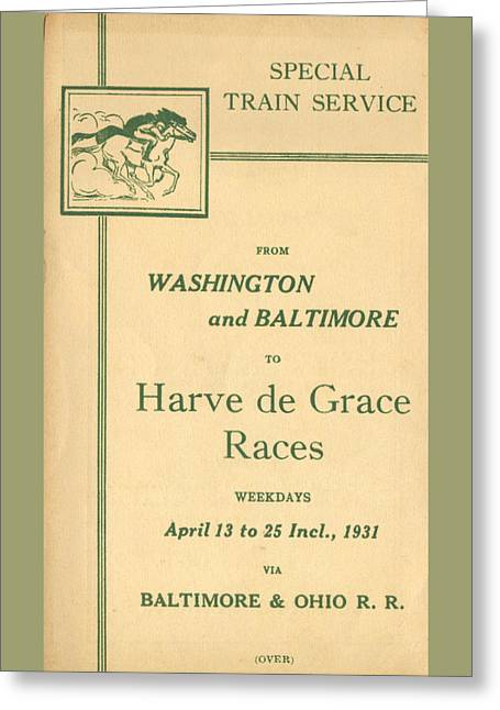 Harve De Grace Races Greeting Card