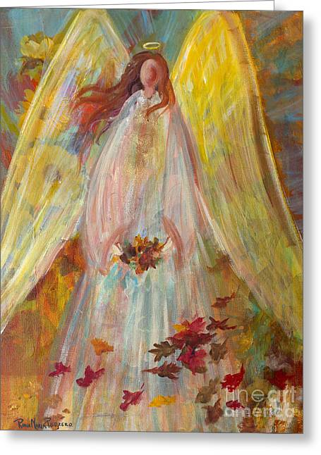 Harvest Autumn Angel Greeting Card