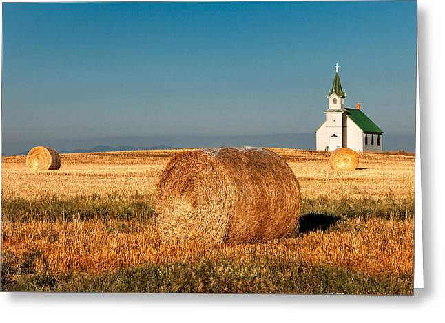Harvest Church Greeting Card by Todd Klassy