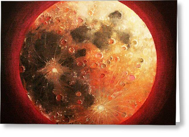 Harvest Full Moon Greeting Card by Shelley Irish