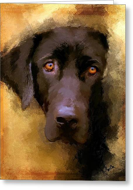 Retriever Greeting Cards - Harvest Lab Greeting Card by Robert Smith