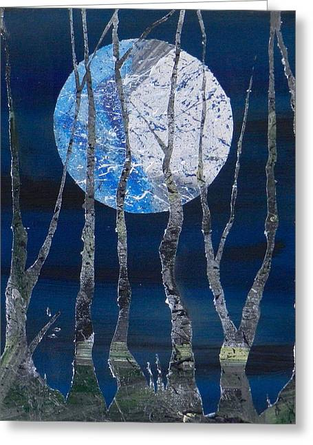 Harvest Moon Greeting Cards - Harvest Moon Greeting Card by Heather  Hubb