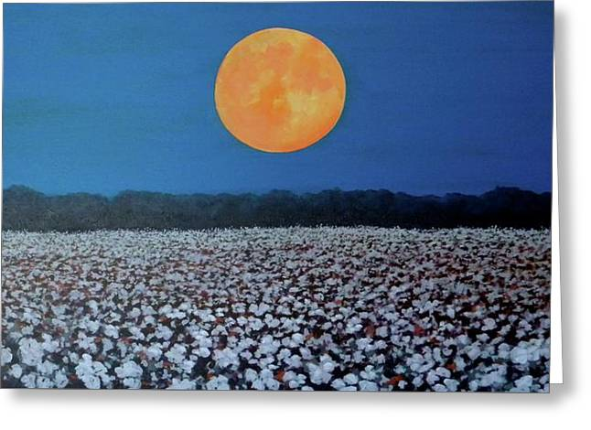 Harvest Moon Greeting Card by Jeanette Jarmon